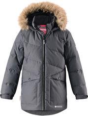 Акция на Зимняя куртка-пуховик Reima Jussi 531349-9670 146 см Темно-серая (6438429026365) от Rozetka