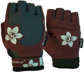 Перчатки для фитнеса PowerPlay Womens 1733 M Grey/Brown (PP_1733_M_Grey/Brown) от Rozetka