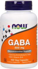 Аминокислота Now Foods GABA (Гамма-Аминомасляная Кислота) 500 мг 100 гелевых капсул (733739000873) от Rozetka