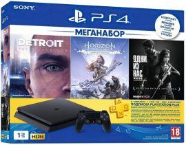Игровая приставка SONY PlayStation 4 Slim 1Tb (Horizon Zero Dawn + Detroit + The Last of Us + PSPlus 3М) (9926009) от MOYO