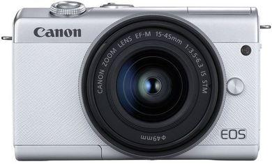 Акция на Фотоаппарат CANON EOS M200 + 15-45mm IS STM White (3700C032) от MOYO