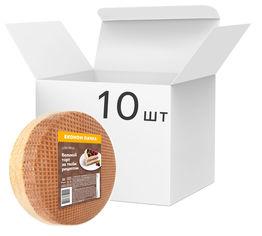 Упаковка вафельных коржей для торта Lekorna с добавлением какао 140 г х 10 шт (4820143331177) от Rozetka