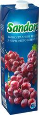 Упаковка нектара Sandora Виноградный из красного винограда 0.95 л х 10 шт (4823063112901) от Rozetka