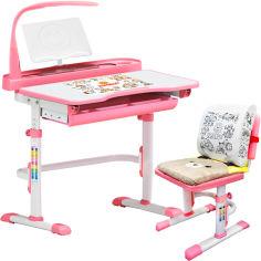 Акция на Комплект мебели Evo-kids Evo-18 (стул+стол+полка+лампа) Белый-розовый (Evo-18 Pn) от Rozetka