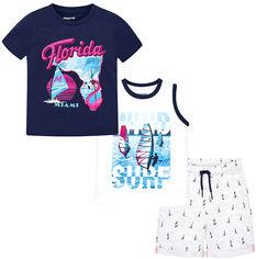 Акция на Комплект (футболка + майка + шорты) Mayoral 3611-10 6Y Голубой (2903611010063) от Rozetka