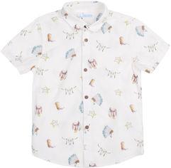 Акция на Рубашка Mayoral Mini Boy 3133-1 5A Белая (2903133001051) от Rozetka