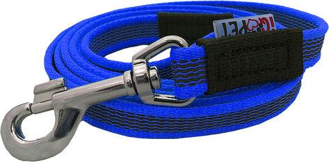 Поводок IQ Pet мягкий прорезиненный 2 м 18 мм Синий (iq-104/20/BU) от Rozetka
