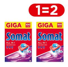 Таблетки для посудомоечной машины Somat All in one 100 шт + 100 шт (9000101420227) от Rozetka