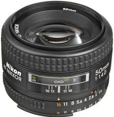 Объектив NIKON AF 50 mm f/1.4D (JAA011DB) от MOYO