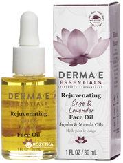 Омолаживающее средство для блеска кожи лица Derma E с маслами шалфея и лаванды 30 мл (030985014303) от Rozetka