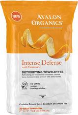 Акция на Очищающие салфетки Avalon Organics с витамином С, биофлавоноидами лимона и экстрактом белого чая детокс-эффект для лица 30 шт (654749453933) от Rozetka