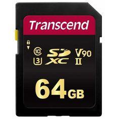 Карта памяти TRANSCEND SDXC 64GB Class 10 700S UHS-II U3 V90 R285/W180 MB/s 4K (TS64GSDC700S) от MOYO
