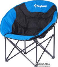 Акция на Раскладное кресло KingCamp Moon Leisure Chair Black/Blue (KC3816 Black/Blue) от Rozetka