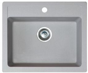 Кухонная мойка METALAC X GRANIT QUADRO 60 (161966) серый + сифон от Rozetka