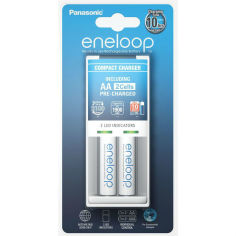 Зарядное устройство ENELOOP Panasonic Compact Charger + 2хAA 1900 mAh от Foxtrot