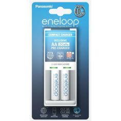 Акция на Зарядное устройство ENELOOP Panasonic Compact Charger + 2хAA 1900 mAh от Foxtrot