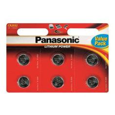 Батарейки PANASONIC 6шт. CR2032 (CR-2032EL/6BW) от Foxtrot