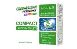 Порошок в таблетках GREEN&CLEAN GCL02465 для білого та кольорового одягу, 24 таблет от Foxtrot