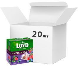 Акция на Упаковка ягодного чая Loyd Лесные ягоды 20 шт по 20 пирамидок (26.123) (5900396022172) от Rozetka