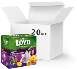 Акция на Упаковка чая пакетированного Loyd Фруктовый Слива и Корица 20 шт по 20 пирамидок (5900396018106) от Rozetka