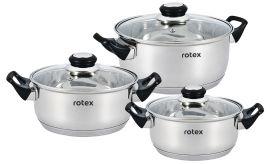 Набор кастрюль Rotex Bergamo из 6 предметов (RC011-6S Bergamo) от Rozetka