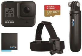 Акция на Экшн-камера GoPro HERO8 Black + Rechargeable Battery + Head Strap + QuickClip + Shorty + SD32GB (CHDRB-801) от MOYO