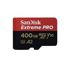Акция на Карта памяти SanDisk microSDXC 400Gb Class 10 UHS-I U3 A2 R170/W90MB/s Extreme Pro V30 + SD-адаптер от MOYO