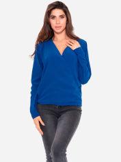 Блузка ISSA PLUS 11122 L Синяя (issa2000167887849) от Rozetka