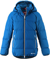 Акция на Зимняя куртка-пуховик Reima 531359-6680 140 см Синяя (6438429008361) от Rozetka