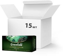 Упаковка Чая пакетированного Greenfield Jasmine Dream 25 пакетиков х 15 шт (4823096801179) от Rozetka
