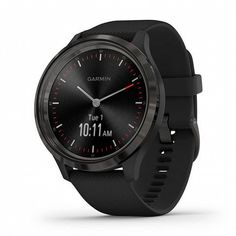 Акция на Garmin Vivomove 3 Slate Stainless Steel Bezel with Black Case and Silicone Band (010-02239-01) от Stylus