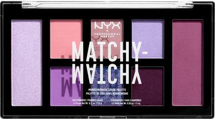 Палетка теней для век и пудр для лица NYX Professional Makeup Matchy Matchy 04 Lilac 14.8 г (800897197575) от Rozetka