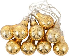 Светодиодная гирлянда Новогодько (YES! Fun) 10 ламп, 200 см Золотистая (801147) (5056137188055) от Rozetka