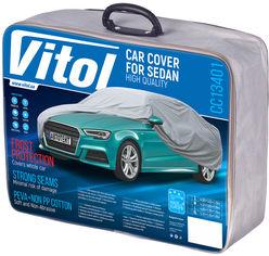 Акция на Тент автомобильный с подкладкой Vitol CC13401 XL Серый от Rozetka