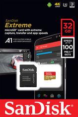 Sandisk microSDHC 32GB Extreme A1 Class 10 V30 UHS-I U3 (SDSQXAF-032G-GN6MA) от Rozetka