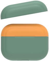 Акция на Двухцветный cиликоновый чехол AhaStyle для Apple AirPods Pro Dark Green Orange (AHA-0P200-DDO) от Rozetka