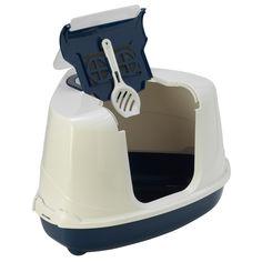 Туалет Moderna Flip Corner для котов 56х45х39 см Темно-синий (5412087009756) от Rozetka