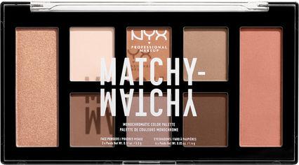 Палетка теней для век и пудр для лица NYX Professional Makeup Matchy Matchy 01 Taupe 14.8 г (800897197544) от Rozetka