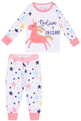 Пижама (футболка с длинными рукавами + штаны) Minoti Pyja 5 13527 80-86 см Белая (5059030348861) от Rozetka