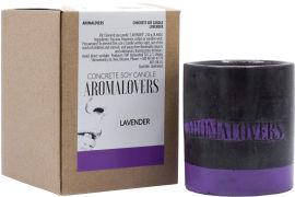 Акция на Ароматическая соевая свеча в бетоне Aromalovers Лаванда 240 г (ROZ6300000035) от Rozetka