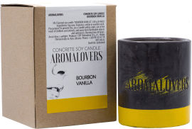 Акция на Ароматическая соевая свеча в бетоне Aromalovers Бурбонская ваниль 240 г (ROZ6300000036) от Rozetka