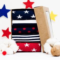 Носки The Pair of Socks Star Box 5 пар 35-37 Синие с красным (ROZ6205084908) от Rozetka