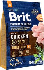 Акция на Сухой корм Brit Premium Adult M для взрослых собак средних пород со вкусом курицы 3 кг (8595602526352) от Rozetka