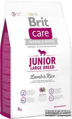 Акция на Сухой корм для щенков и молодых собак крупных пород Brit Care Junior Large Breed Lamb & Rice 3 кг (8595602509843) от Rozetka
