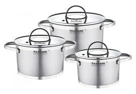Набор посуды MAXMARK PRO Flat 6 предметов (MK-FL3306H) от Eldorado