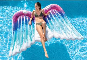 Акция на Пляжный надувной матрас - плот 58786 Крылья ангела от Y.UA