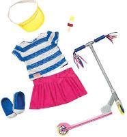 Набор одежды для кукол Our Generation Deluxe с самокатом и аксесуарами (BD30200Z) от Rozetka
