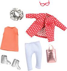 Набор одежды для куклы Lori Красное пальто с узором (LO30014Z) от Rozetka