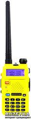 Акция на Рация Baofeng UV-5R Yellow + Гарнитура Baofeng c кнопкой РТТ от Rozetka