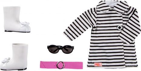Акция на Набор одежды для кукол Our Generation Полосатое пальто (BD60012Z) от Rozetka